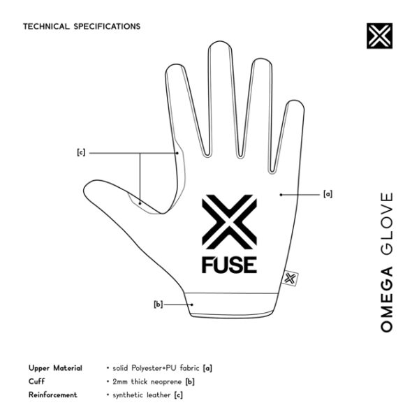 Gants FUSE OMEGA guide taille size achat
