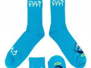 chaussettes-cult-i-am-good-bleu-ciel