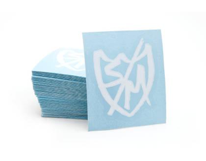 Pack Sticker S&M x 100 Sharpie Shield Die Cut White 2'5