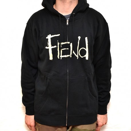 sweat-capuche-zip-fiend-logo-black